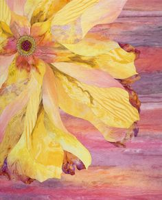 Yellow Whimzy is my newest quilt of my Painterly Flowers series $1,100.00