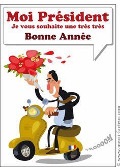 Carte Les voeux présidentiels pour envoyer par La Poste, sur Merci-Facteur !