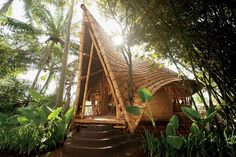 One of eight exuberant villas erected by AD Innovator Elora Hardy's firm, Ibuku, in Bali's Green Village.