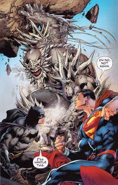 Batman and Superman vs Doomsday Arte Dc Comics, Marvel Comics, Hq Marvel, Dc Comics Superheroes, Dc Comic Books, Comic Book Characters, Comic Character, Comic Art, Man Of Steel