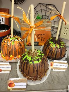 Caramel Apple Pumpkins I Made For The Pumpkin Decorating Contest At Work
