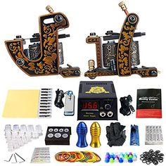 Solong Tattoo Beginner/Starter Tattoo Kit 2 Pro Machine Guns Power Supply Needle Grips Tips TK202-30 -- You can get more details by clicking on the image. (This is an affiliate link) #TattooSupplies
