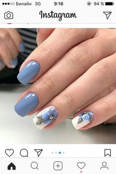 41 latest nail trends and designs 2019 039 41 latest nail trends and designs 2019 039 Latest Nail Designs, Nail Art Designs, Hot Nails, Hair And Nails, Gel Nagel Design, Nagellack Trends, Nagel Gel, Powder Nails, Perfect Nails