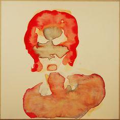 Maciej Olekszy, Bez tytułu ( z cyklu -  Żelazny Piec ), akwarela, papier naklejony na płótno, 50 x 50 cm, 2010 (2)