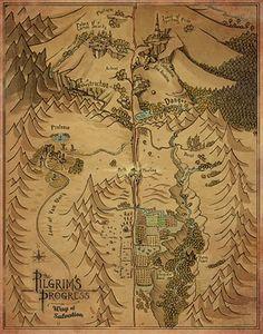 Pilgrim's Progress Map by Garrett Taylor