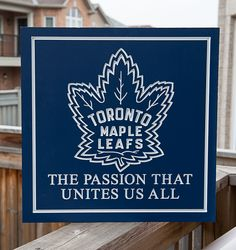 Maple Leafs sign for the man cave.  Carved on a CNC router and hand painted mdf.