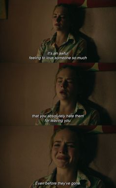 quote from the movie Mr. Church // living with people who have cancer is really hard..