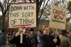 Irish protesters