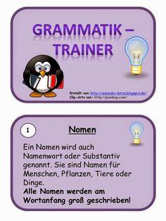 Hallöchen, heute geht es nun endlich los. Für das kommende Schuljahr habe ich begonnen an einer Grammatik-Kartei zu basteln. Heute geht ...