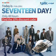 *ended event* [Today is SVT DAY] Check out the Secret discount code and various events for CARATs! Woozi, Wonwoo, Jeonghan, Seventeen Vlive, Third Way, Seungkwan, The Secret, Dubai, Coding