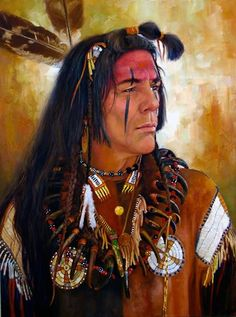 Native Americans Indians Hidatsa Warrior ~ by Vicki Catapano