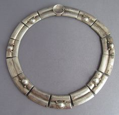 RARE VINTAGE MID CENTURY RETRO STERLING 1950's William Spratling CHOKER NECKLACE
