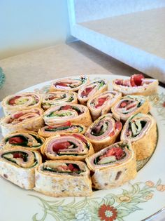 Club roll up appetizer.  Easy and really good.  A true crowd pleaser.