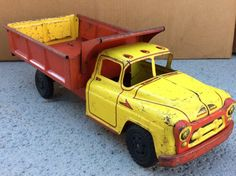 Vintage Toys For Sale, Metal Toys, Dump Truck, Toy Trucks, Toy Sale, Steel, Antique, Cars, History