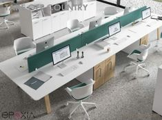 Take Off is a contemporary office desk family available in 3 styles; Take Off standard desks, Take Off Country desks with thick wood legs & finally Take Off Farm with wood legs & thick wood desktop. Bureau Design, Workspace Design, Open Office Design, Corporate Office Design, Office Floor Plan, Floor Plan Layout, Home Office, Office Lounge, Showroom Interior Design