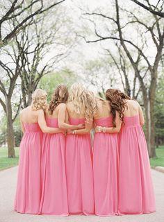 Pink bridesmaids. Winnipeg Wedding from Lani Elias Fine Art Photography