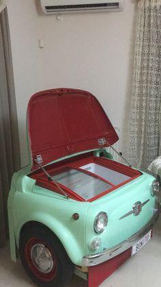 Fiat 500 fridge vintage