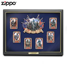 Confederate Luminaries Zippo Lighter Collection