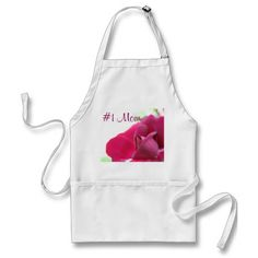 Soft Pink Rose #1 Mom Adult Apron