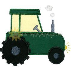 Farm Tractor Applique Design