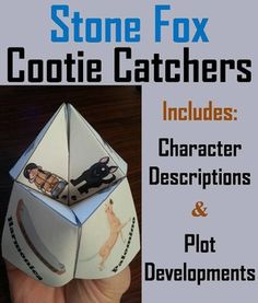 Stone Fox: These Stone Fox cootie catchers are a great way for students to have fun while learning about the characters and plot developments of the book: Stone Fox. How to Play and Assembly Instructions are included.These Cootie Catchers contain the following:1.