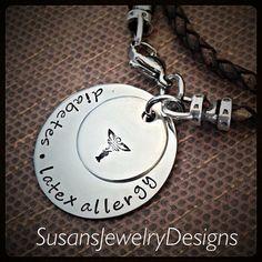 Medical Alert Leather Double Wrap Bracelet by SusansJewelryDesigns