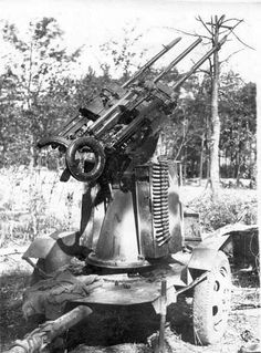 A MG 151/20 Drilling anti aircraft gun mounted to special trailer