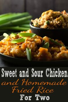 Baked Sweet and Sour Chicken Recipe with Homemade Fried Rice for Two is part of Homemade fried rice - This Baked Sweet and Sour Chicken with Homemade Fried Rice for two is the best! It's super easy and so delicious The best part is you can make it at home Cooking For Two, Batch Cooking, Cooking Recipes, Healthy Recipes, Cooking Fish, Cooking Torch, Cooking Zucchini, Cooking Pasta, Camping Cooking