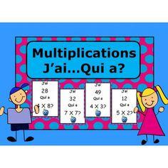 J'ai - Qui a? Teaching Tips, Teaching Math, Cycle 3, Multiplication And Division, 5th Grade Math, Teaching French, Elementary Math, Math Resources, Physical Education