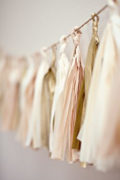 I think I can DIY a tissue paper garland.
