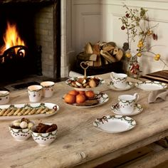 Coffee at the fire place