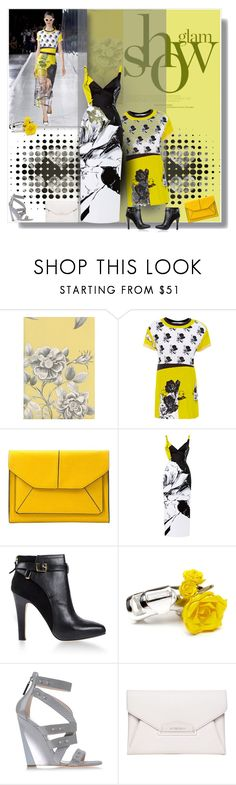 """""""Glam Show"""" by selmendonca ❤ liked on Polyvore featuring SANDERSON, Rene, Prabal Gurung, John Lewis, Diane Von Furstenberg, Casadei and Givenchy"""
