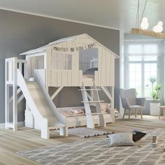 Pin By Tanya Parker On Home Kid Spaces Bunk Bed With