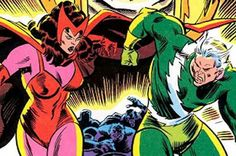Scarlet Witch and Quicksilver...Nightcrawler's wife and brother in law