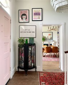 Home 🏡 Immediately planning room updates after buying every single USA interiors magazine in the airport and have already ordered a new… Cozy Room Decor, Decor, Mid Century Leather Dining Chairs, Interior, Dream Apartment Decor, Aesthetic Room Decor, Hallway Designs, Home Decor, Home Deco
