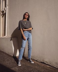 Basic Outfits, Trendy Outfits, Urban Fashion, Daily Fashion, Fashion Wear, Fashion Outfits, Petra, Casual Street Style, Aesthetic Clothes
