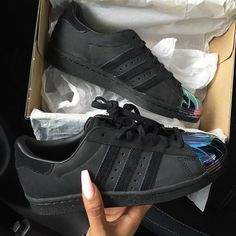 official photos 9ef64 bc1c8 QueenA Black Adidas Superstar, Tenis Adidas, Adidas Sneakers, Shoes  Sneakers, Shoes Heels
