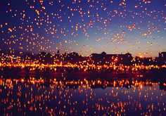 Every year, on the first day of astronomical summer, there are thousands of people gathering at the river of Warta in western polish city of Poznan, to celebrate and share this meaningful momment. Its importance and joy is expressed by lanterns flying into the sky. (There are lots of other beautiful pictures about. Go & see!)