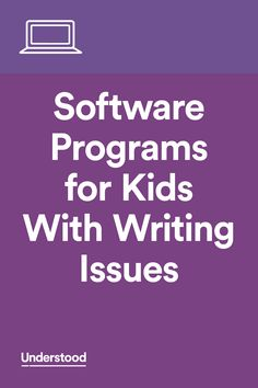 Kids with writing issues like dysgraphia often struggle to express their thoughts in written form. The physical act of writing can be difficult for them, too. There's a range of assistive technology software that can help.