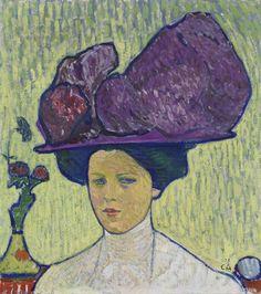 Cuno Amiet (1868-1961): Der violette Hut (Bildnis Gertrud Müller), 1907, Kunstmuseum