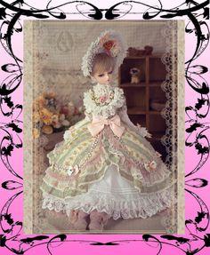 Angell Studio CL31111231 European Sweet Dress for 62-65 cm for 1/3 SD BJD