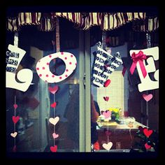 cute Valentines day decoration idea for a window:)
