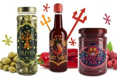 """Check out this @Behance project: """"Hot sauce, Raspberry Jam And Olives Packaging"""" https://www.behance.net/gallery/45454841/Hot-sauce-Raspberry-Jam-And-Olives-Packaging"""