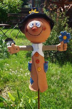Keramik Vogelscheuche Bubi 46 cm Gartenstecker Dekoration Handarbeit Terrasse | Garten & Terrasse, Dekoration, Gartenfiguren & -skulpturen | eBay!