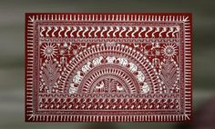 Nisarga: Tribal Saura Art Depicting Nature Worli Painting, Buddha Painting, Sketch Painting, Fabric Painting, Madhubani Art, Madhubani Painting, Indian Art Paintings, Wall Paintings, Shiva Art