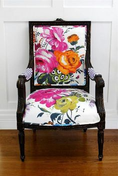 Beautiful idea for chair redo
