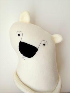 Boris the Shy Polar Bear Plush Toy by Finkelsteins