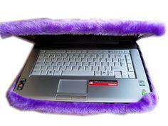 Funda laptop en peluche violeta, se hacen a medida de tu compu
