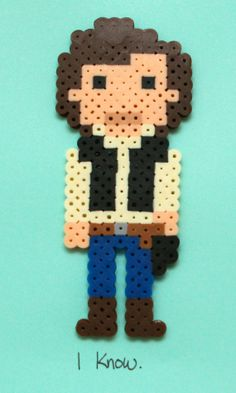 HAMA PERLER BEADS / PERLES À REPASSER / STRIJKPARELS - Star Wars Perler Bead Artwork Han Solo by HothPants