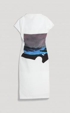 Rachel Comey / printed with a placed landscape collage by Rosemarie Auberson.